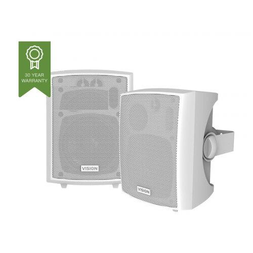 Vision SP-800P - Speakers - 24 Watt - 3-way - white