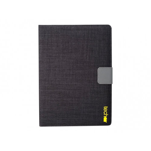techair Universal - Flip cover for tablet - textured polyester - black