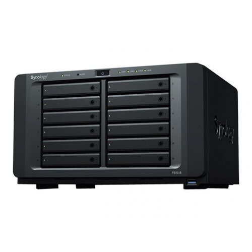 Synology FlashStation FS1018 - NAS server - 12 bays - RAID 0, 1, 5, 6, 10, JBOD, RAID F1 - RAM 8 GB - Gigabit Ethernet - iSCSI