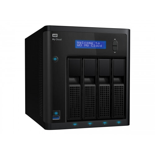 WD My Cloud PR4100 WDBNFA0320KBK - NAS server - 4 bays - 32 TB - HDD 8 TB x 4 - RAID 0, 1, 5, 10, JBOD - RAM 4 GB - Gigabit Ethernet