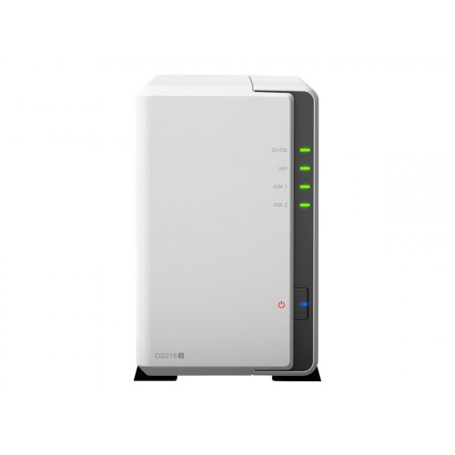 Synology Disk Station DS218j - NAS server - 2 bays - SATA 6Gb/s - RAID 0, 1, JBOD - RAM 512 MB - Gigabit Ethernet - iSCSI