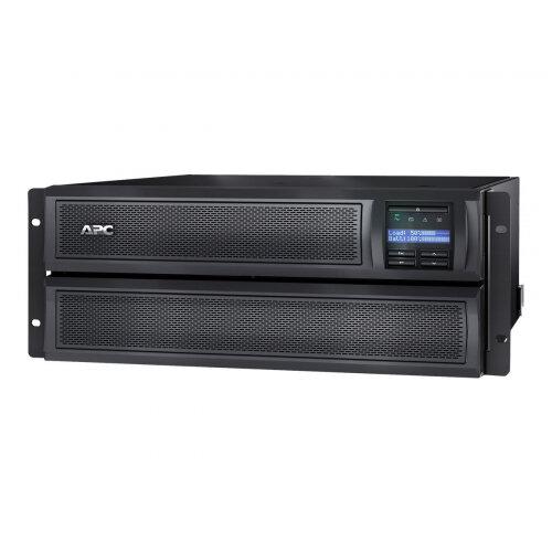 APC Smart-UPS X 2200 Rack/Tower LCD - UPS (rack-mountable / external) - AC 230 V - 1980 Watt - 2200 VA - Ethernet 10/100, RS-232, USB - output connectors: 10 - 4U - black - with APC UPS Network Management Card