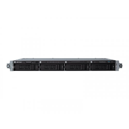 BUFFALO TeraStation 5400r - NAS server - 4 bays - 16 TB - rack-mountable - SATA 3Gb/s - HDD 4 TB x 4 - RAID 0, 1, 5, 6, 10, JBOD - RAM 2 GB - Gigabit Ethernet - iSCSI