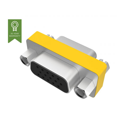 Vision Techconnect TC-VGAFF - Video coupler - HD-15 (F) to HD-15 (F) - 300 V - stand-off screws - metal