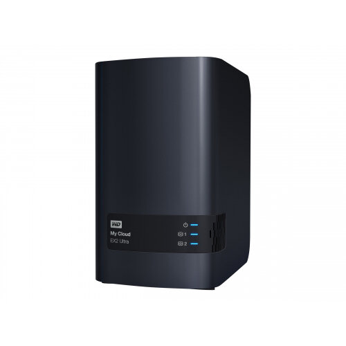WD My Cloud EX2 Ultra WDBVBZ0060JCH - Personal cloud storage device - 2 bays - 6 TB - HDD 3 TB x 2 - RAID 0, 1, JBOD - RAM 1 GB - Gigabit Ethernet - iSCSI