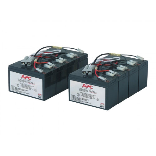 APC Replacement Battery Cartridge #12 - UPS battery - 2 x Lead Acid - black - for P/N: DL5000RMT5U, SU5000R5TBX114, SU5000R5TBXFMR, SU5000R5T-TF3, SU5000R5XLT-TF3