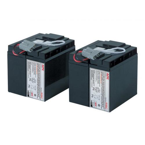 APC Replacement Battery Cartridge #55 - UPS battery Lead Acid 2-cell - black - for P/N: DLA2200, SMT2200, SMT2200I, SMT2200US, SMT3000, SMT3000I, SUA2200UXICH, SUA3000UXICH