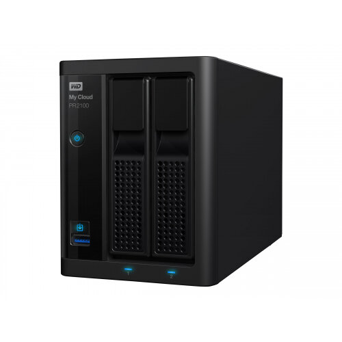 WD My Cloud PR2100 WDBBCL0000NBK - NAS server - 2 bays - RAID 0, 1, JBOD - RAM 4 GB - Gigabit Ethernet