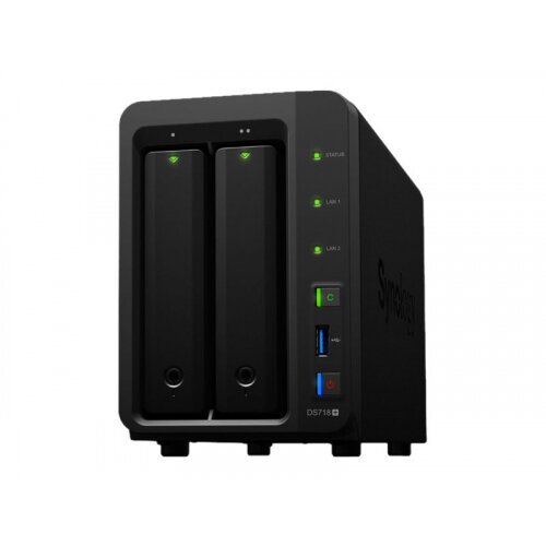 Synology Disk Station DS718+ - NAS server - 2 bays - RAID 0, 1, 5, 6, 10, JBOD - RAM 2 GB - Gigabit Ethernet - iSCSI