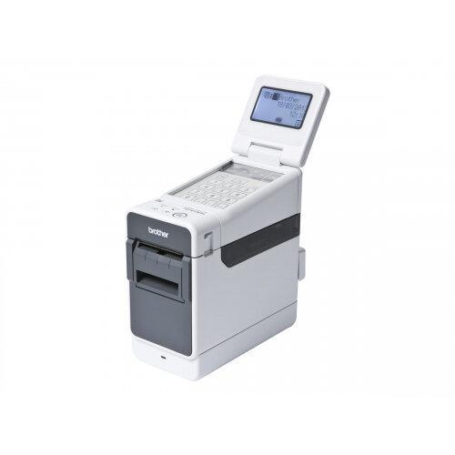 Brother TD-2130N - Label printer - thermal paper - Roll (6.3 cm) - 300 dpi - up to 152.4 mm/sec - USB 2.0, LAN, serial, Wi-Fi(n), USB host, Bluetooth 2.0 EDR
