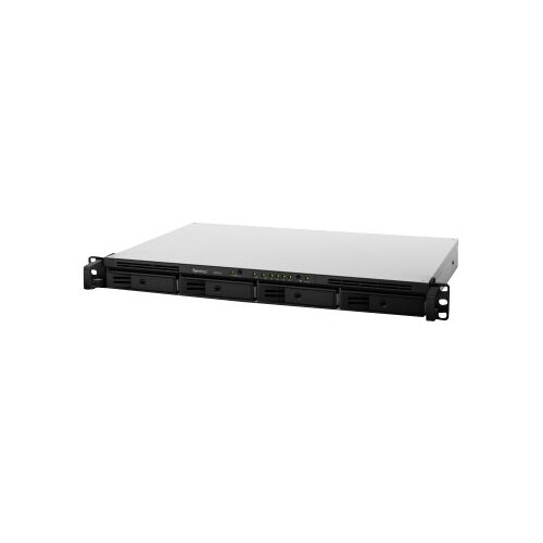 Synology RackStation RS816 - NAS server - 4 bays - rack-mountable - SATA 6Gb/s / eSATA - RAID 0, 1, 5, 6, 10, JBOD - RAM 1 GB - Gigabit Ethernet - iSCSI - 1U