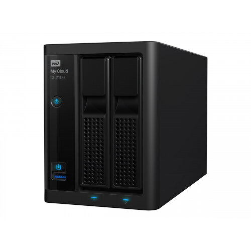 WD My Cloud PR2100 WDBBCL0040JBK - NAS server - 2 bays - 4 TB - HDD 2 TB x 2 - RAID 0, 1, JBOD - RAM 4 GB - Gigabit Ethernet