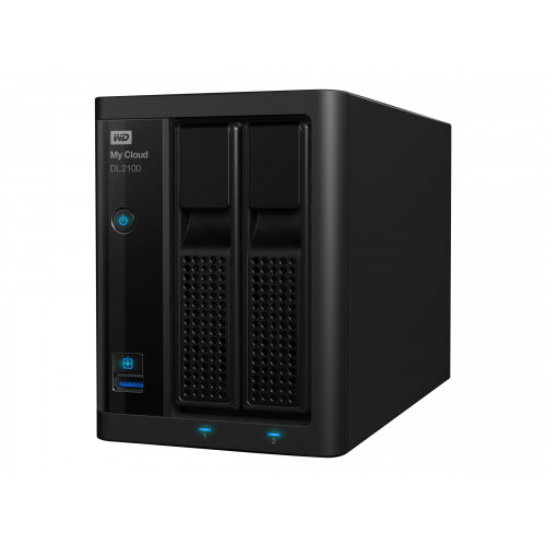 WD My Cloud PR2100 WDBBCL0080JBK - NAS server - 2 bays - 8 TB - HDD 4 TB x 2 - RAID 0, 1, JBOD - RAM 4 GB - Gigabit Ethernet