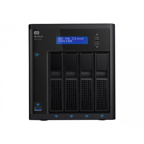 WD My Cloud PR4100 WDBNFA0160KBK - NAS server - 4 bays - 16 TB - HDD 4 TB x 4 - RAID 0, 1, 5, 10, JBOD - RAM 4 GB - Gigabit Ethernet