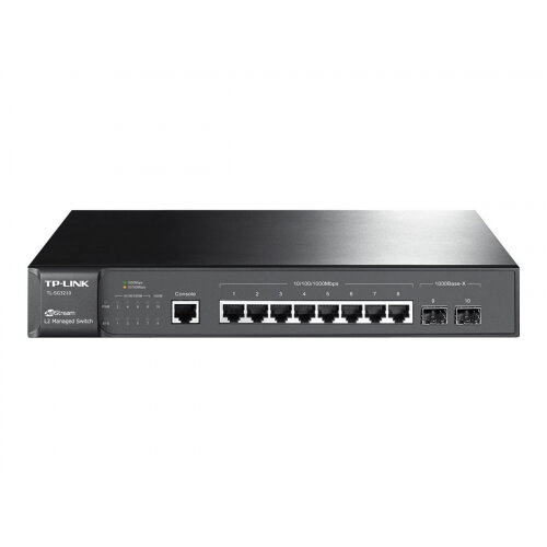 TP-Link JetStream T2500G-10TS - Switch - Managed - 8 x 10/100/1000 + 2 x Gigabit SFP - desktop, rack-mountable