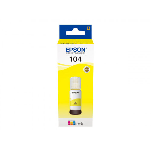 Epson EcoTank 104 - 70 ml - yellow - original - ink tank - for EcoTank ET-2710, ET-2711, ET-2720, ET-2720 All-in-One Supertank Printer, ET-2726, ET-4700