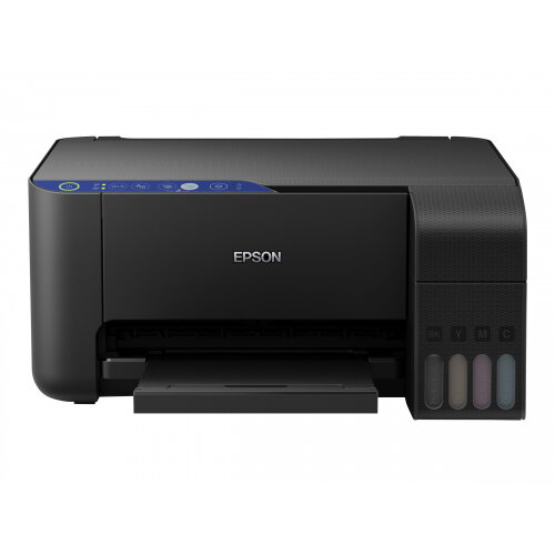 Epson EcoTank ET-2711 - Multifunction printer - colour - ink-jet - A4/Legal (media) - up to 33 ppm (printing) - 100 sheets - USB, Wi-Fi - black