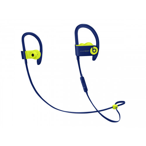 Beats Powerbeats3 - Beats Pop Collection - earphones with mic - in-ear - over-the-ear mount - Bluetooth - wireless - noise isolating - pop indigo - for 10.5-inch iPad Pro; 9.7-inch iPad; 9.7-inch iPad Pro; iPhone X, XR, XS, XS Max