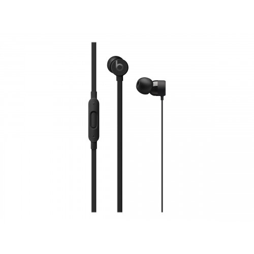 Beats urBeats3 - Earphones with mic - in-ear - wired - Lightning - noise isolating - black - for 10.5-inch iPad Pro; 9.7-inch iPad; 9.7-inch iPad Pro; iPhone X, XR, XS, XS Max