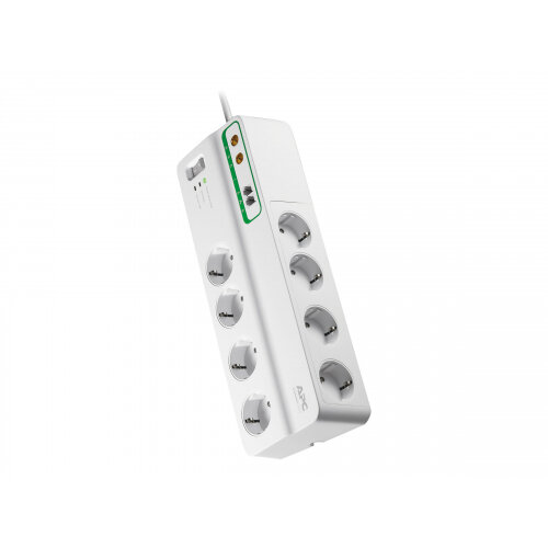 APC SurgeArrest Performance - Surge protector - AC 230 V - 2300 Watt - output connectors: 8 - Germany - white