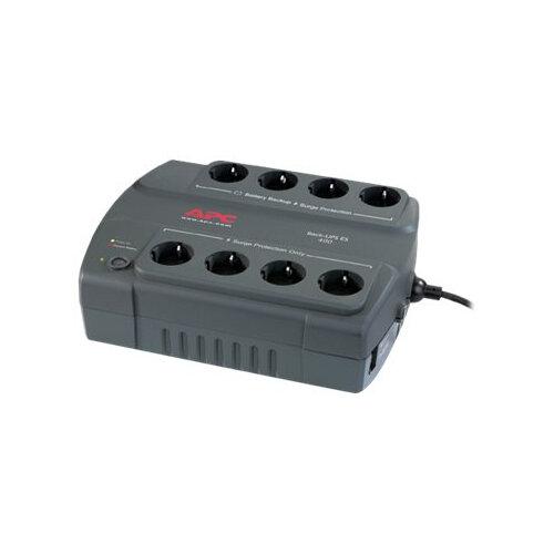 APC Back-UPS ES 400 - UPS - AC 230 V - 240 Watt - 400 VA - output connectors: 8 - Germany, Netherlands - charcoal