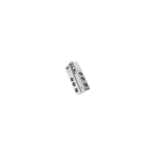 APC SurgeArrest Home/Office - Surge protector - AC 230 V - 2300 Watt - output connectors: 6 - Italy - white