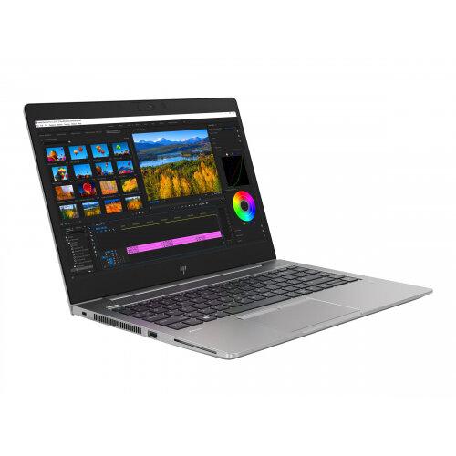 HP ZBook 14u G5 Mobile Workstation - Core i5 8350U / 1.7 GHz - Win 10 Pro 64-bit - 8 GB RAM - 256 GB SSD HP Z Turbo Drive, NVMe - 14&uot; IPS 1920 x 1080 (Full HD) - Radeon Pro WX 3100 / HD Graphics 620 - Wi-Fi, Bluetooth - turbo silver - kbd: UK