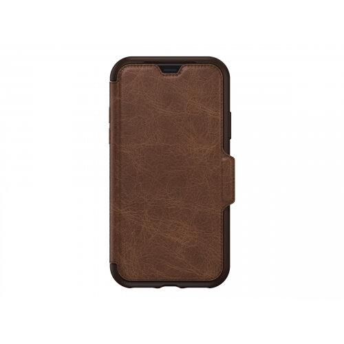 OtterBox Strada - Flip cover for mobile phone - espresso - for Apple iPhone XS
