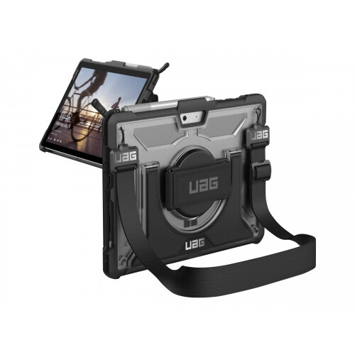 UAG Rugged Case for Microsoft Surface Go w/ Handstrap - Plasma Ice - Back cover for tablet - rugged - rubber - ice - for Microsoft Surface Go