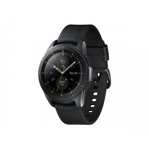 Samsung Galaxy Watch - 42 mm - midnight black - smart watch with band - silicone - display 1.2&uot; - 4 GB - Wi-Fi, NFC, Bluetooth - 49 g