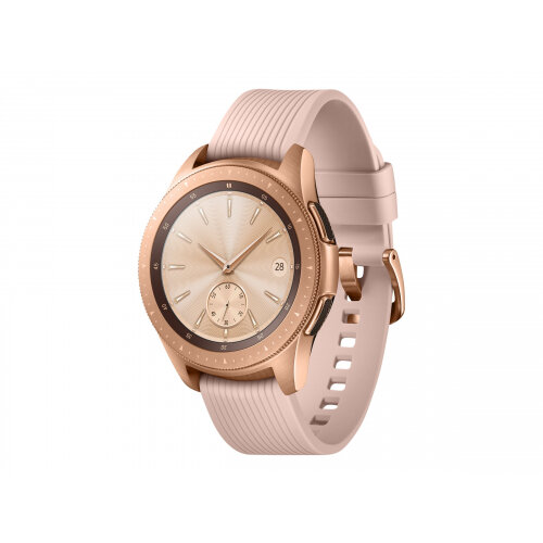 Samsung Galaxy Watch - 42 mm - rose gold - smart watch with band - silicone - display 1.2&uot; - 4 GB - Wi-Fi, NFC, Bluetooth - 49 g