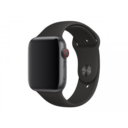 Apple 44mm Sport Band - Watch strap - 140-210 mm - black - for Watch (42 mm, 44 mm)