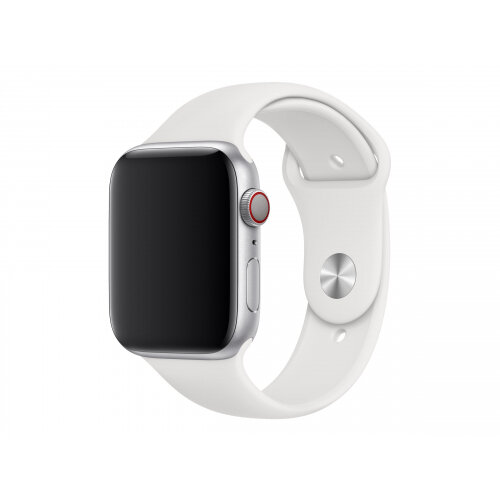 Apple 44mm Sport Band - Watch strap - 140-210 mm - white - for Watch (42 mm, 44 mm)