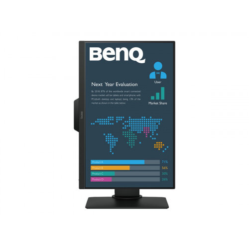 BenQ BL2381T - LED monitor - 22.5&uot; - 1920 x 1200 WUXGA - IPS - 250 cd/m&up2; - 1000:1 - 5 ms - HDMI, DVI-D, VGA, DisplayPort - speakers - black
