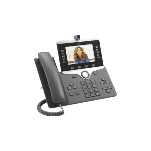 Cisco IP Phone 8845 - IP video phone - digital camera, Bluetooth interface - SIP, SDP - 5 lines - charcoal