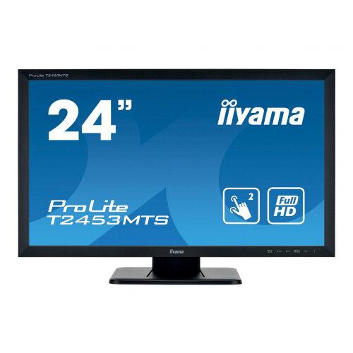 iiyama ProLite T2453MTS-B1 - LED monitor - 24&uot; (23.6&uot; viewable) - touchscreen - 1920 x 1080 Full HD (1080p) - VA - 250 cd/m&up2; - 3000:1 - 4 ms - HDMI, DVI, VGA - speakers - black