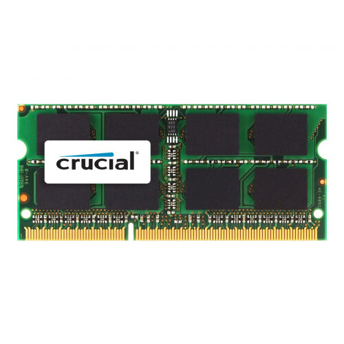 Crucial - DDR3 - 4 GB - SO-DIMM 204-pin - 1600 MHz / PC3-12800 - CL11 - 1.35 / 1.5 V - unbuffered - non-ECC - for Apple iMac 27&uot; (Late 2012); MacBook Pro (Mid 2012)