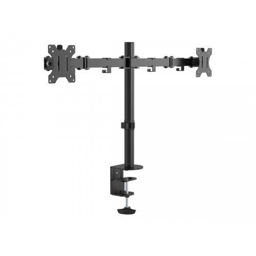 Vision VFM-DPD Monitor Desk Post - Desk mount for 2 LCD displays - steel - black - screen size: 13&uot;-27&uot;