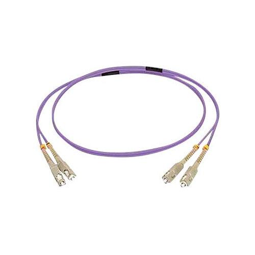 C2G 15m SC/SC OM4 LSZH Fibre Patch - Purple - Patch cable - SC multi-mode (M) to SC multi-mode (M) - 15 m - fibre optic - 50 / 125 micron - OM4 - purple