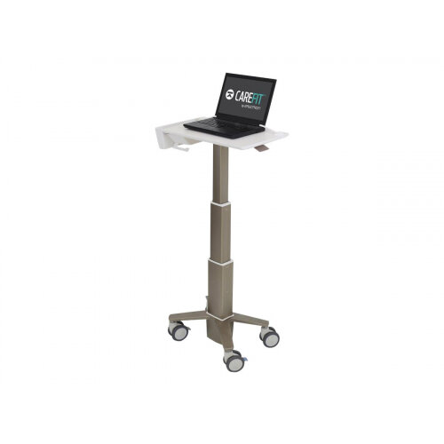 Ergotron CareFit Slim - Cart for notebook - aluminium - white, warm grey - screen size: up to 15.6&uot;