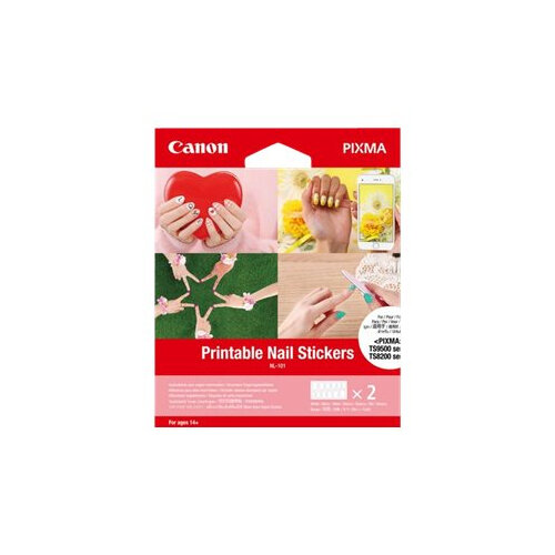 Canon NL-101 - Adhesive - white - 24 pcs. (2 sheet(s) x 12) nail stickers - for PIXMA TS8250, TS8251, TS8252, TS9550, TS9551C