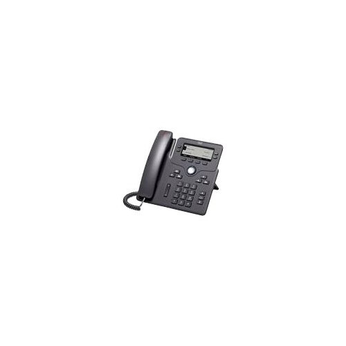 Cisco IP Phone 6851 - VoIP phone - SIP, SRTP - 4 lines - charcoal