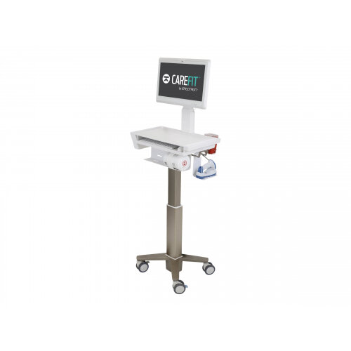 Ergotron CareFit Slim - Cart for LCD display - medical - aluminium, high-grade plastic, zinc plated steel - white, warm grey - screen size: up to 27&uot;