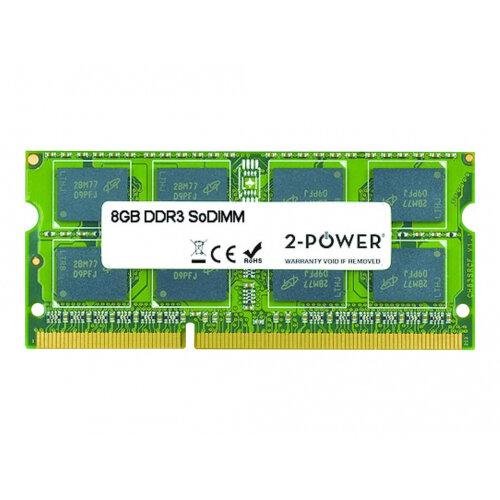 2-Power - DDR3L - 8 GB - SO-DIMM 204-pin - 1600 MHz / PC3L-12800 - CL11 - 1.35 V - unbuffered - non-ECC - for Alienware 15 R2; Dell Inspiron 24 54XX, 34XX, 3558, 55XX, 57XX; Latitude 34XX; Vostro 54XX