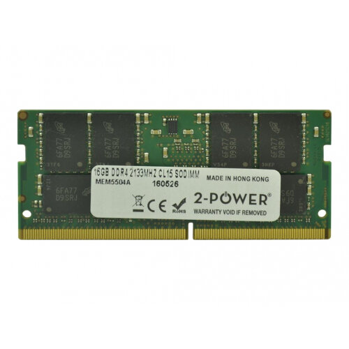 2-Power - DDR4 - 16 GB - SO-DIMM 260-pin - 2133 MHz / PC4-17000 - CL15 - 1.2 V - unbuffered - non-ECC - for HP EliteBook 840 G3, 850 G3; ZBook 15 G3 Mobile Workstation, 15u G3 Mobile Workstation
