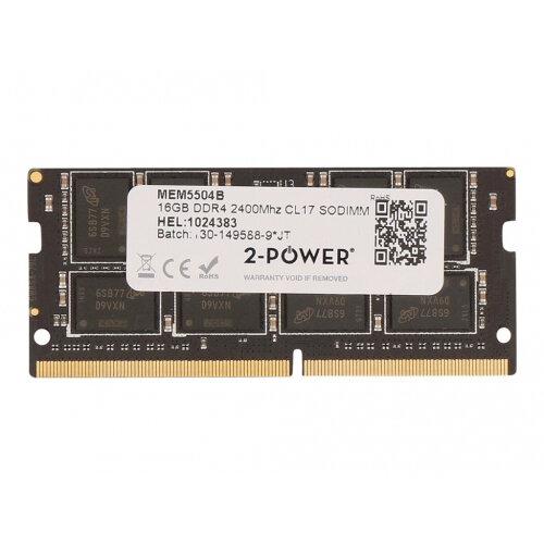 2-Power - DDR4 - 16 GB - SO-DIMM 260-pin - 2400 MHz / PC4-19200 - CL17 - 1.2 V - unbuffered - non-ECC - for HP EliteBook 820 G4, 840 G4, 850 G4