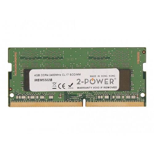 2-Power - DDR4 - 4 GB - SO-DIMM 260-pin - 2400 MHz / PC4-19200 - CL17 - 1.2 V - unbuffered - non-ECC - for HP 24X G6, 25X G6; EliteBook 725 G4, 735 G5, 745 G4, 745 G5, 755 G4, 755 G5, 820 G4, 830 G5, 840 G4, 840 G5, 840r G4, 850 G4, 850 G5; ProBook 430 G4