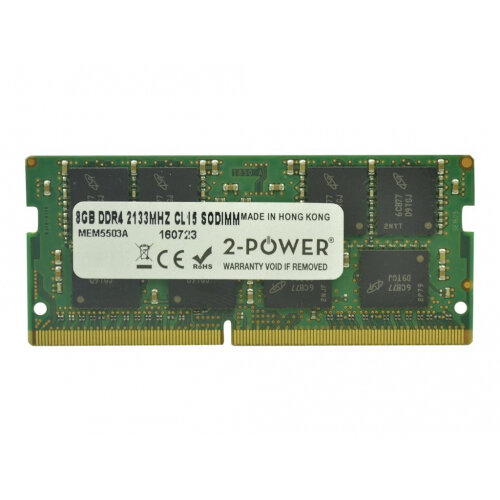 2-Power - DDR4 - 8 GB - SO-DIMM 260-pin - 2133 MHz / PC4-17000 - CL15 - 1.2 V - unbuffered - non-ECC - for HP EliteBook 820 G3, 840 G3, 850 G3; ProBook 430 G4, 440 G3, 470 G3, 640 G2, 650 G2