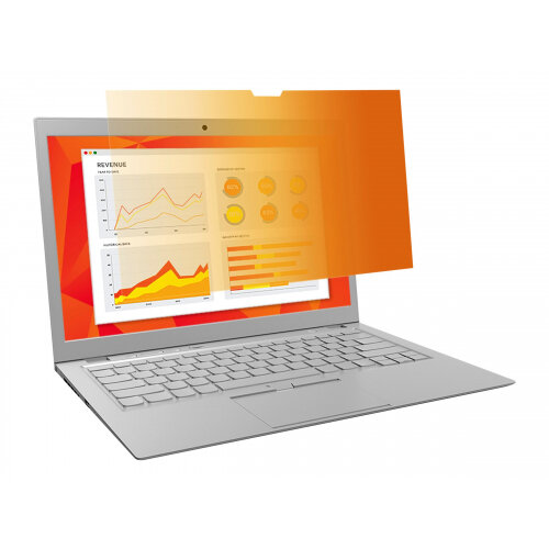 3M Gold Privacy Filter for 12.5&uot; Widescreen Laptop - Notebook privacy filter - 12.5&uot; wide - gold