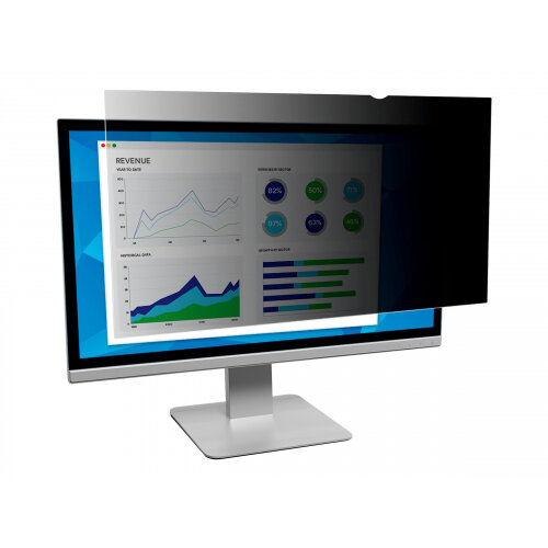 3M Privacy Filter for 32&uot; Widescreen Monitor - Display privacy filter - 32&uot; wide - black